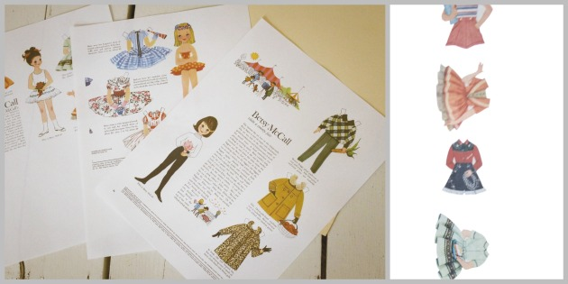 Betsy McCall Paper Doll Printout