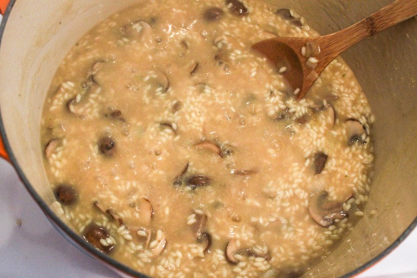 Homemade portabella risotto l Our Sweet Somewhere