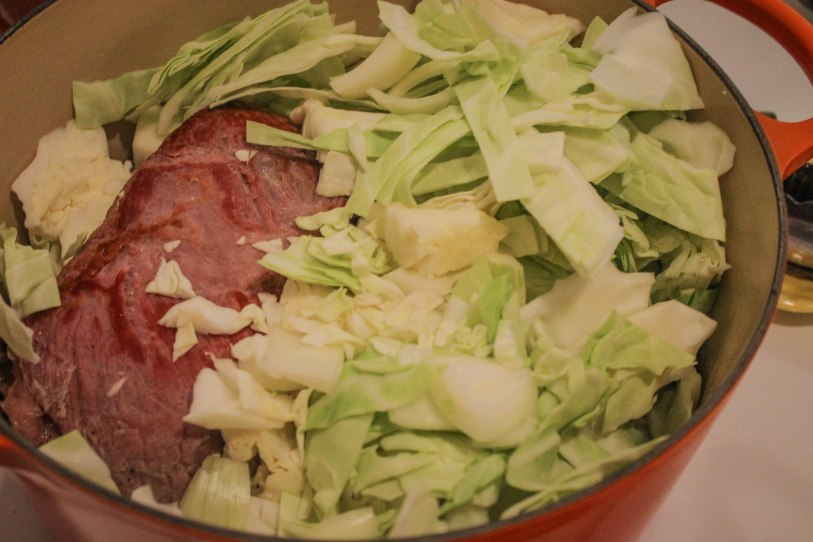 St Patrick's Day corned beef and cabbage meal l Our Sweet Somewhere