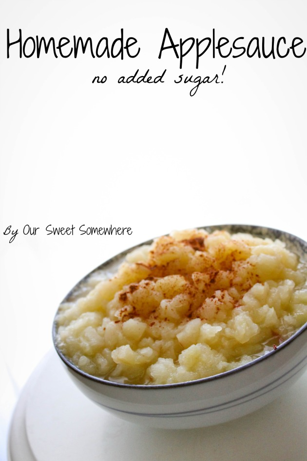 Homemade applesauce l by Our Sweet Somewhere