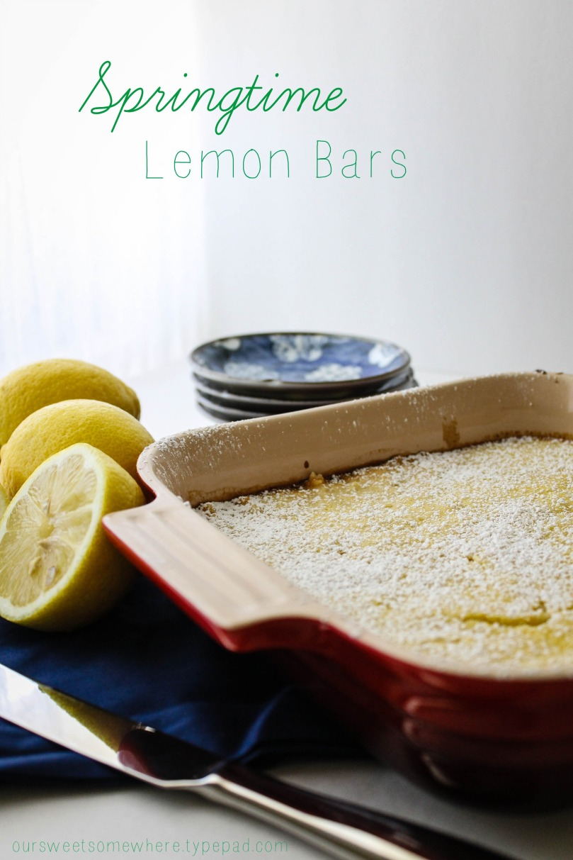 Make some springtime lemon bars l Our Sweet Somewhere