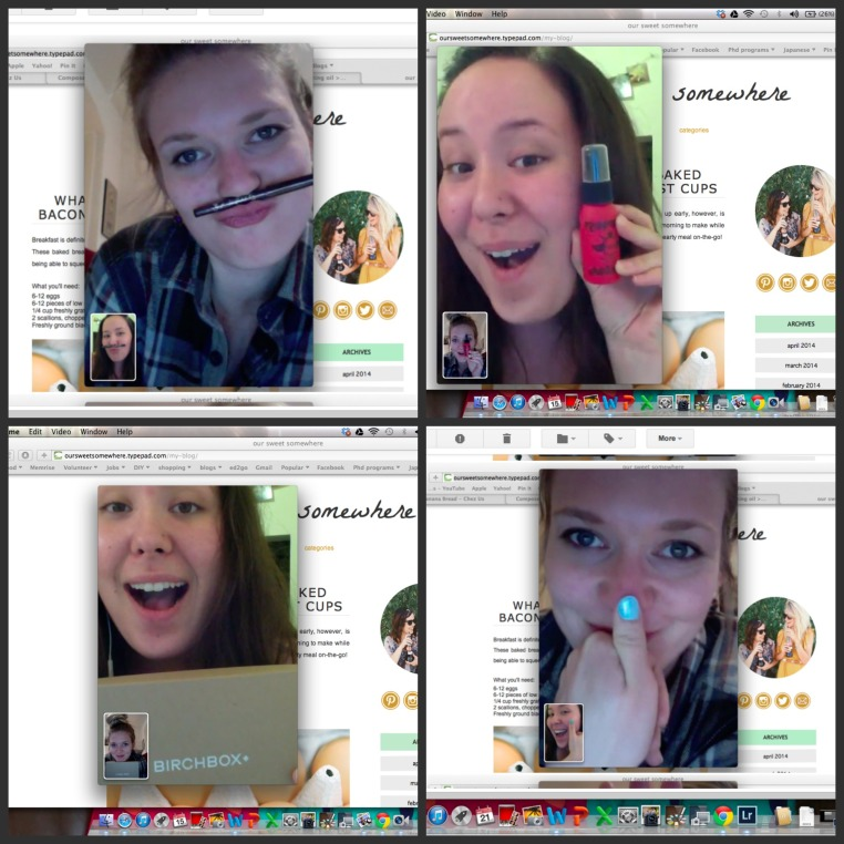 Birchbox skype l Our Sweet Somewhere